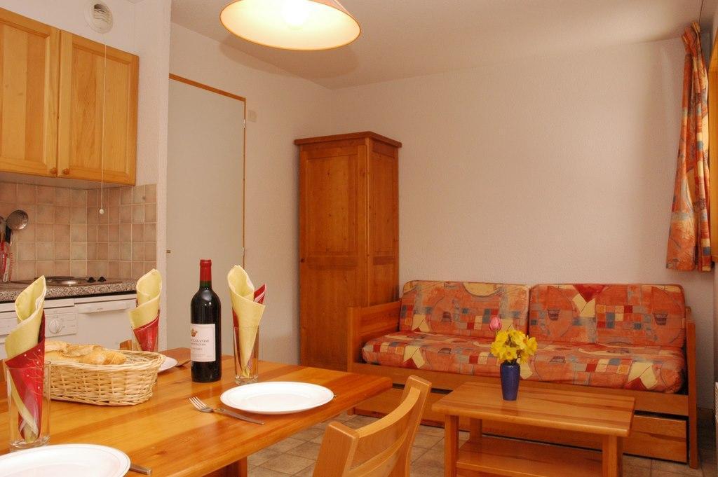 Location au ski Studio coin montagne 3 personnes (213) - Residence La Combe - Aussois - Séjour