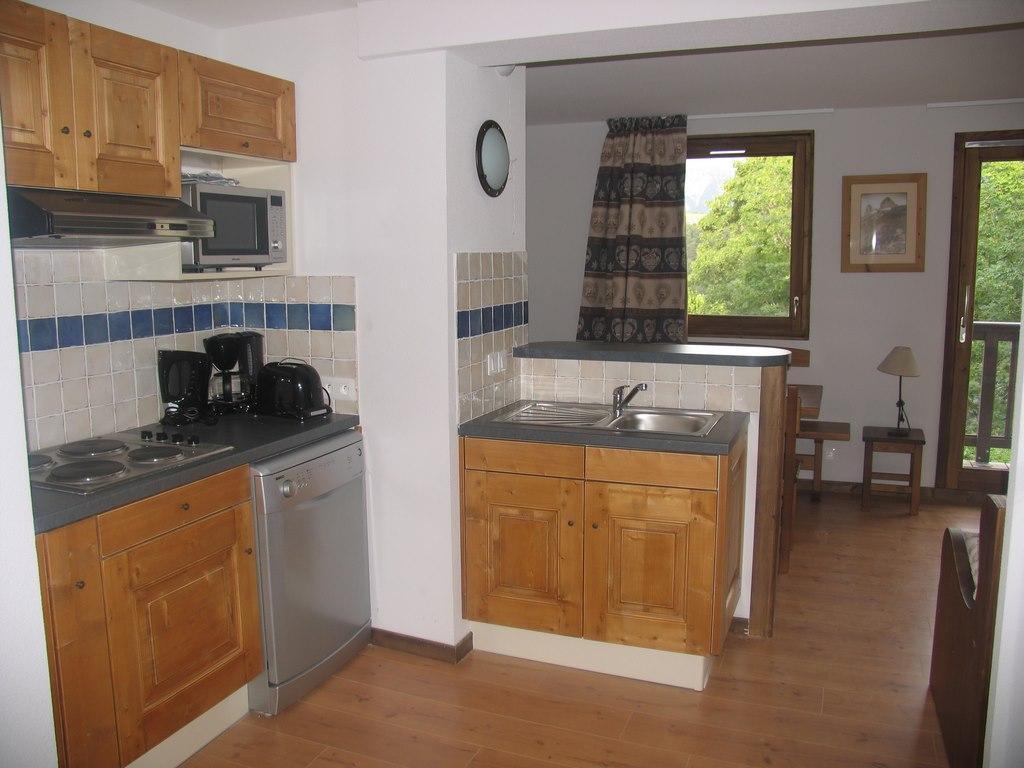 Location au ski Appartement 3 pièces 6 personnes (002) - Residence Les Sports - Aussois - Cuisine