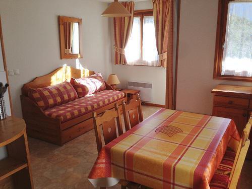 Skiverleih 2-Zimmer-Appartment für 4 Personen (421) - La Résidence la Combe - Aussois - Ausziehschlafcouch für 2 Personen