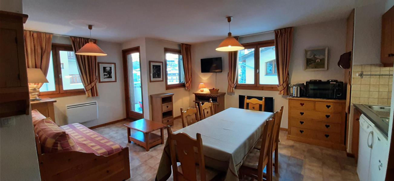 Skiverleih 2-Zimmer-Holzhütte für 4 Personen (402) - La Résidence la Combe - Aussois - Wohnzimmer