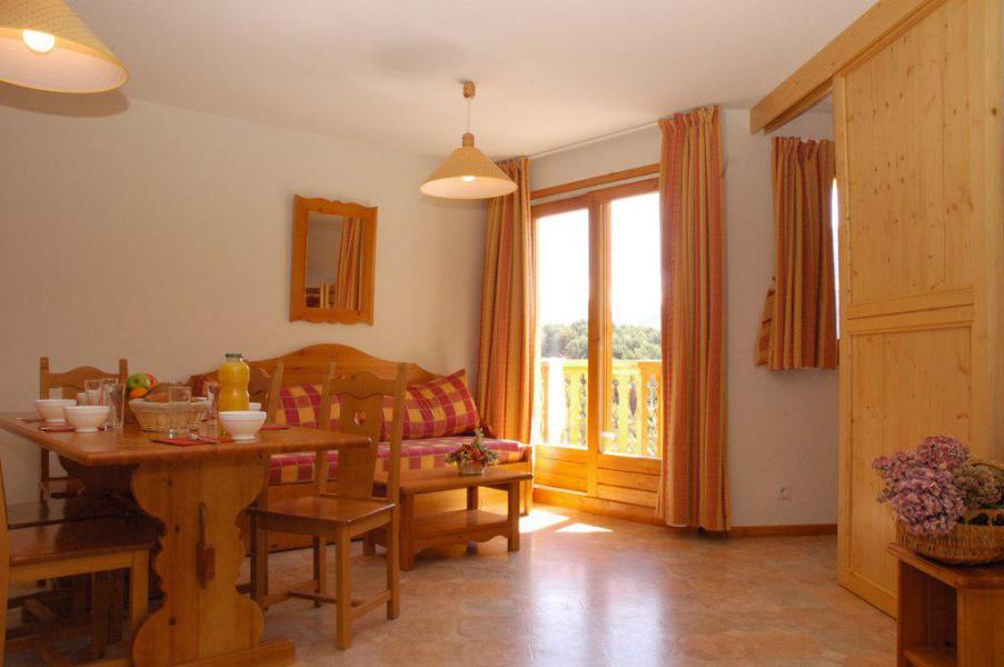 Skiverleih 2-Zimmer-Holzhütte für 6 Personen (435) - La Résidence la Combe - Aussois - Wohnzimmer