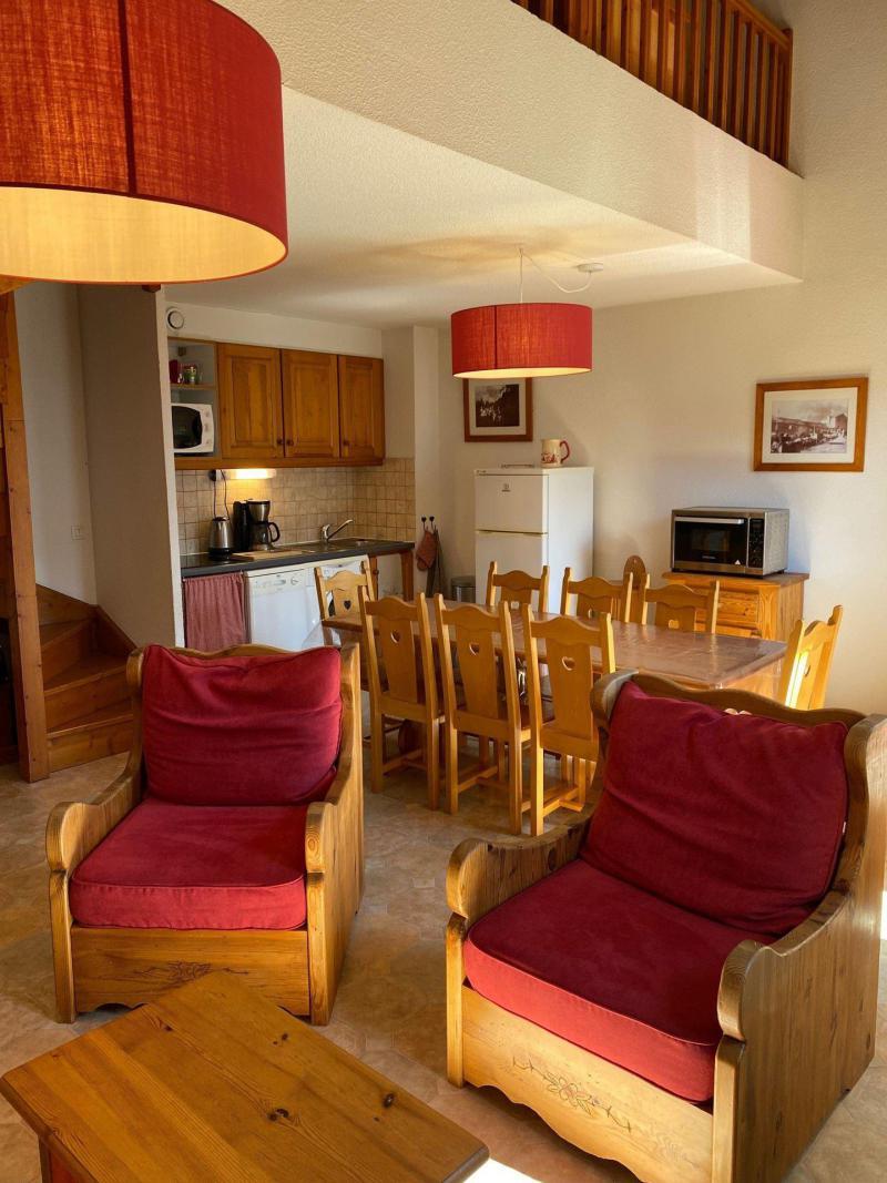 Skiverleih 3 Zimmer Maisonettewohnung für 8 Personen (446) - La Résidence la Combe - Aussois - Tisch