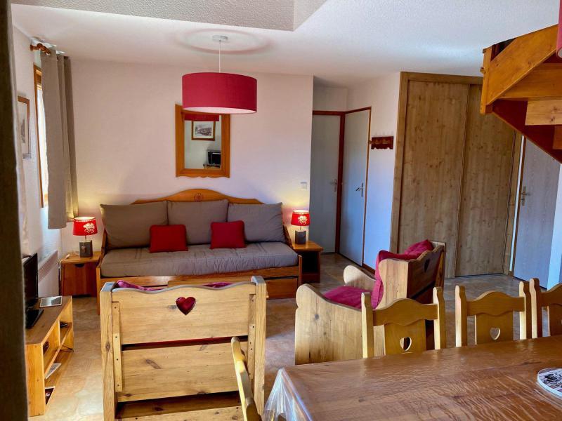 Skiverleih 3 Zimmer Maisonettewohnung für 8 Personen (446) - La Résidence la Combe - Aussois - Wohnzimmer