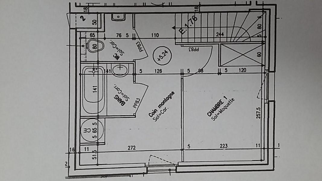 Location au ski Appartement 2 pièces coin montagne 6 personnes (E1.76) - La Résidence les Flocons d'Argent - Aussois - Plan