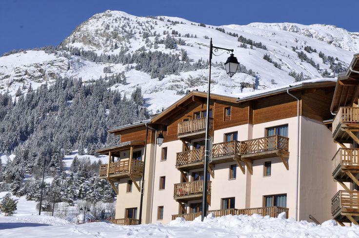 Skiverleih La Résidence les Flocons d'Argent - Aussois - Draußen im Winter