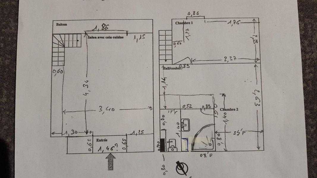 Skiverleih 2 Zimmer Maisonettewohnung für 6 Personen (D1.69) - La Résidence les Flocons d'Argent - Aussois - Plan