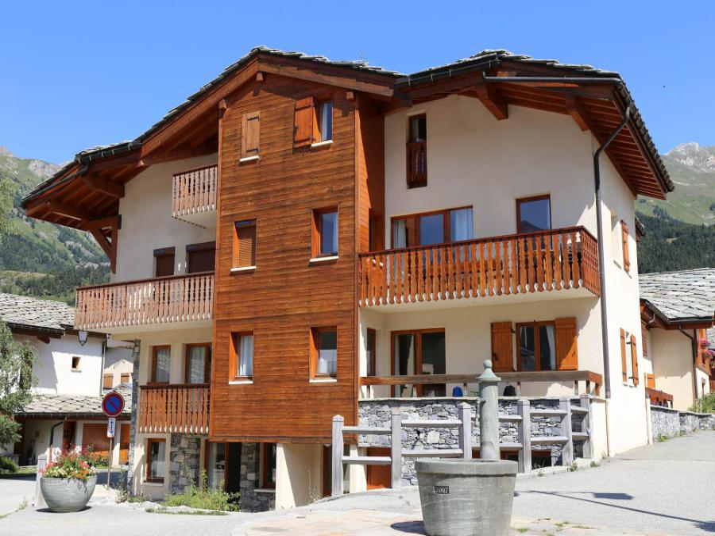 Location au ski Résidence la Combe IV - Aussois - Extérieur hiver