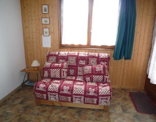 Skiverleih 2-Zimmer-Appartment für 4 Personen (2) - Résidence La Corniche - Aussois - Sofa