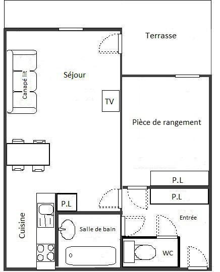 Location au ski Appartement 2 pièces 4 personnes (102) - Résidence La Corniche - Aussois