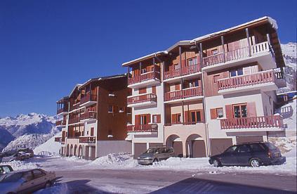 Skiverleih 2-Zimmer-Holzhütte für 6 Personen (115) - Résidence Le Genevray - Aussois - Draußen im Winter