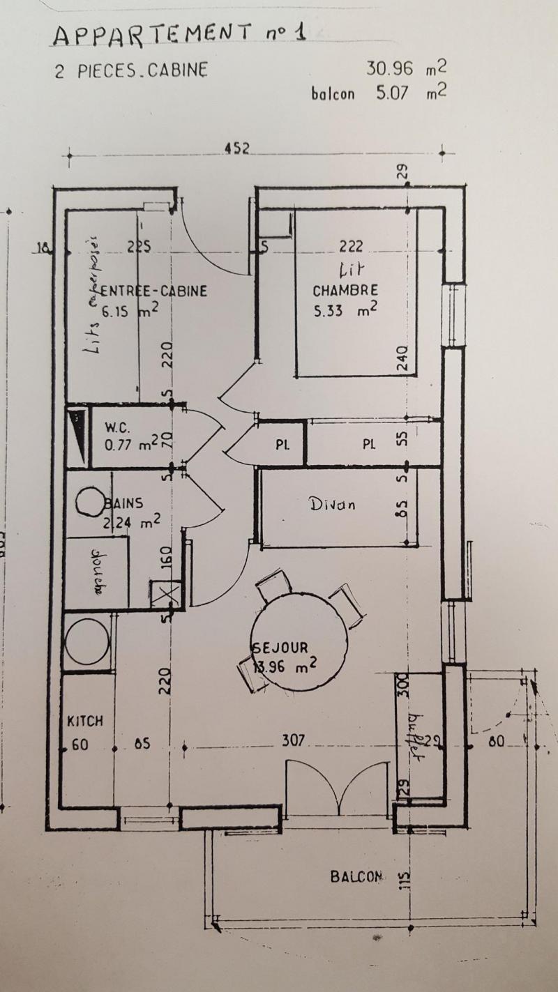 Skiverleih 2-Zimmer-Appartment für 4 Personen (1) - Résidence Le Genevray - Aussois