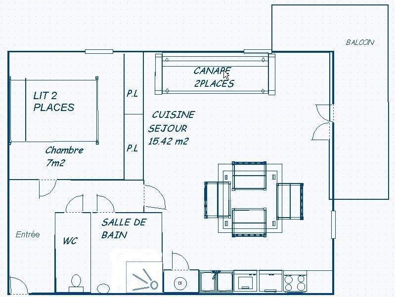 Skiverleih 2-Zimmer-Appartment für 4 Personen (203) - Résidence Le Genevray - Aussois