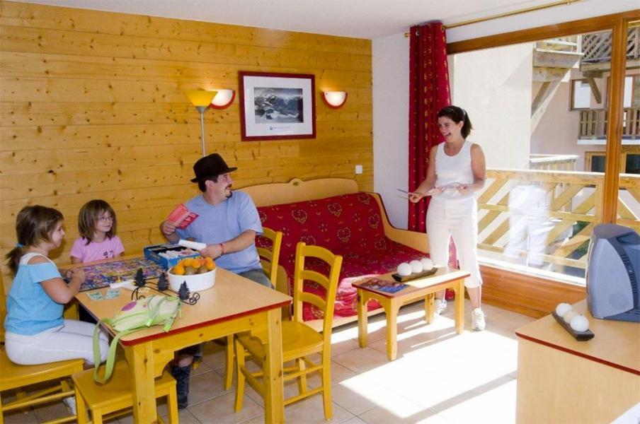 Skiverleih Résidence les Flocons d'Argent - Aussois - Wohnzimmer
