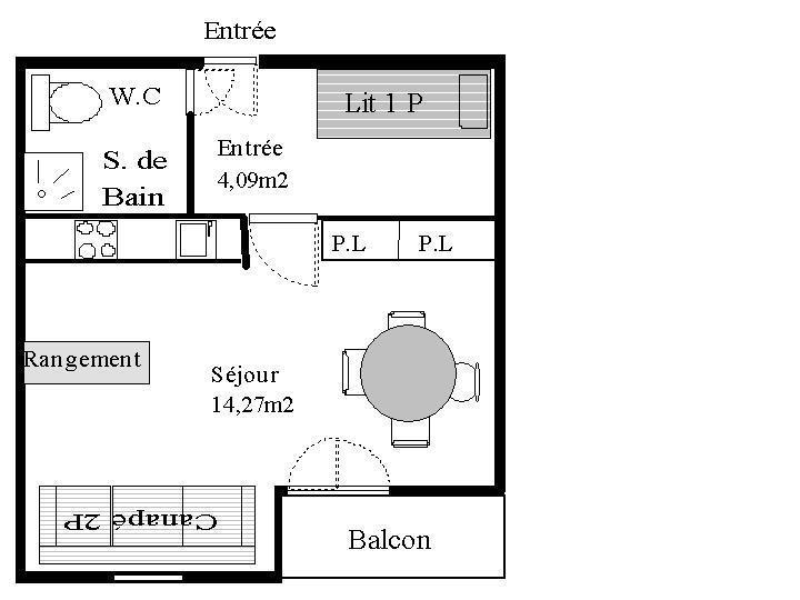 Skiverleih Studio Schlafnische 3 Personen (STS33) - Résidence St Sébastien 1 - Aussois - Dusche