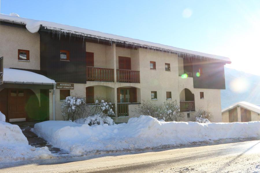 Wakacje w górach Apartament 2 pokojowy z antresolą 6 osób (STS181) - Résidence St Sébastien 2 - Aussois - Zima na zewnątrz
