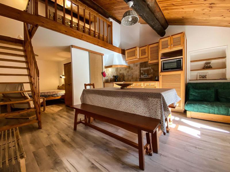 Skiverleih Wohnung 2 Mezzanine Zimmer 6 Leute (STEN2) - Résidences village d'Aussois - Aussois - Tisch