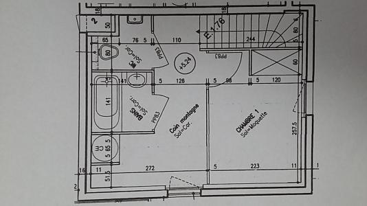 Rent in ski resort 2 room duplex apartment sleeping corner 6 people (E1.76) - La Résidence les Flocons d'Argent - Aussois - Plan