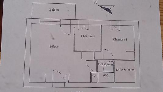 Rent in ski resort 3 room apartment 6 people (E3.86) - La Résidence les Flocons d'Argent - Aussois - Plan