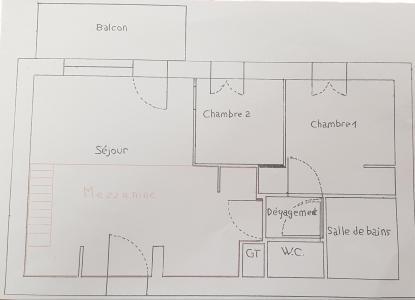 Rent in ski resort 3 room apartment 6 people (F5.143) - La Résidence les Flocons d'Argent - Aussois - Plan