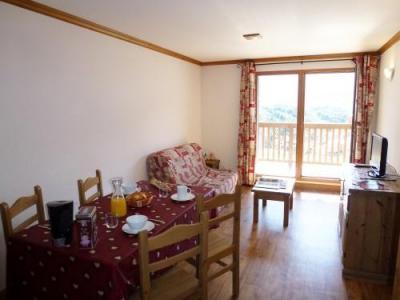 Location au ski Appartement 2 pièces cabine 6 personnes - Residence Chalet Le Clos D'aussois - Aussois - Coin repas