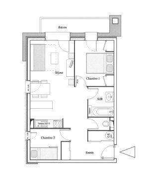 Location au ski Appartement 3 pièces 6 personnes - Residence Chalet Le Clos D'aussois - Aussois - Plan