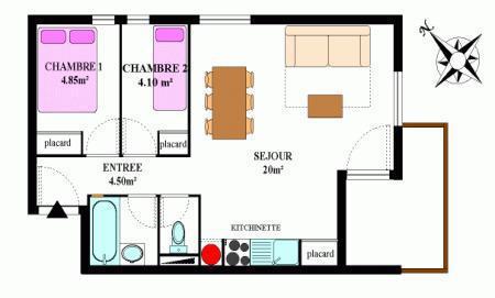 Location au ski Appartement 3 pièces 6 personnes (330) - Residence La Combe Ii - Aussois