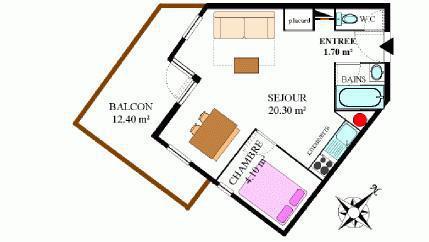Location au ski Appartement 2 pièces 4 personnes (306) - Résidence la Combe II - Aussois