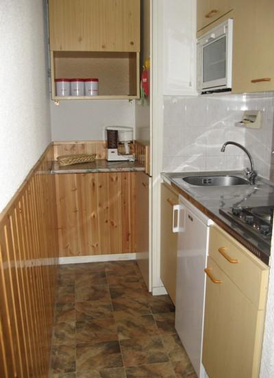 Rent in ski resort 2 room apartment 4 people (114) - Résidence La Corniche - Aussois - Kitchenette