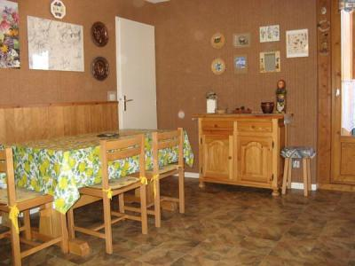 Rent in ski resort 2 room apartment sleeping corner 4 people (113) - Résidence La Corniche - Aussois - Table