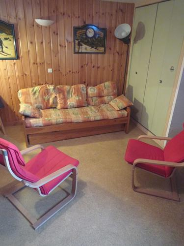 Rent in ski resort 2 room apartment cabin 6 people (128) - Résidence Les Fleurs - Aussois - Living room