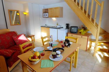 Location au ski Appartement duplex 2 pièces 6 personnes - Residence Les Flocons D'argent - Aussois - Coin repas