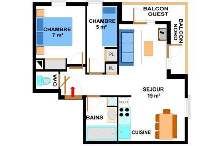 Location au ski Appartement 3 pièces 6 personnes (012) - Residence Les Sports - Aussois