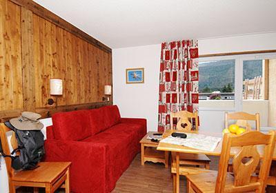 Location au ski Residence Le Sornin - Autrans - Canapé