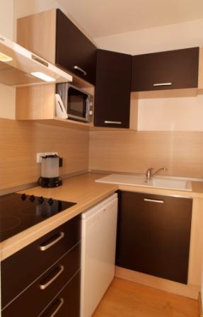Location au ski Appartement 2 pièces cabine 6 personnes - Residence Domaine De La Vallee D'ax - Ax-Les-Thermes - Cuisine