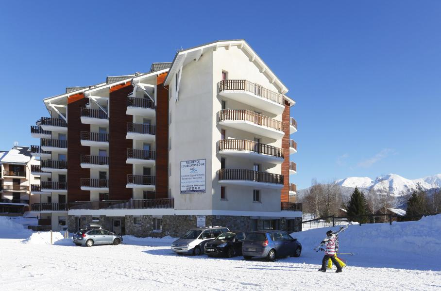 Rent in ski resort Résidence les Balcons d'Ax - Ax-Les-Thermes - Winter outside