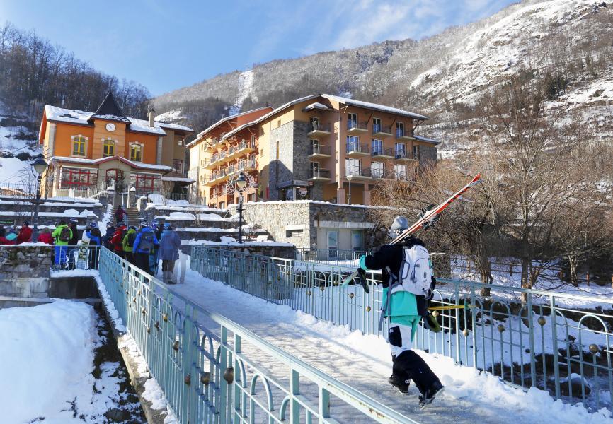 Location au ski Residence Les Grands Ax - Ax-Les-Thermes - Extérieur hiver