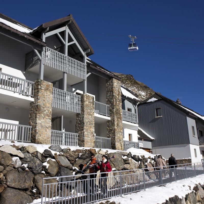Urlaub in den Bergen Résidence Pic du Midi - Barèges/La Mongie - Draußen im Winter