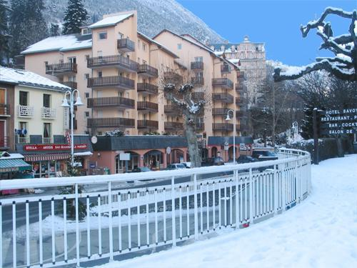 Location au ski Résidence Eureca - Brides Les Bains - Extérieur hiver
