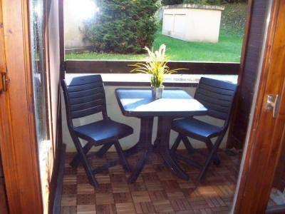 Location au ski Studio coin montagne 4 personnes (1008) - Residence Cybele - Brides Les Bains - Table et chaises de jardin