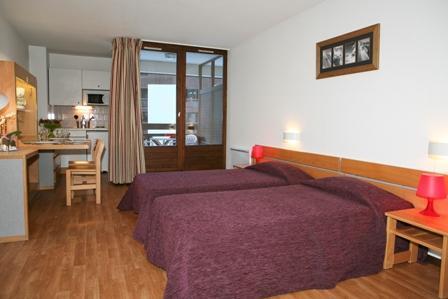 Location au ski Studio coin montagne 4 personnes (1110) - Residence Cybele - Brides Les Bains - Chambre