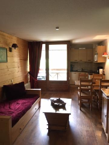 Location au ski Studio coin montagne 4 personnes (202) - Residence Cybele - Brides Les Bains - Séjour
