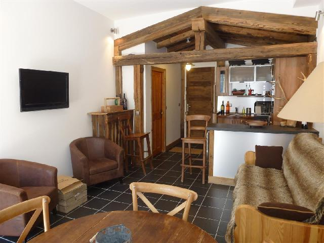 Location au ski Appartement 2 pièces 4 personnes (icone) - Residence Le Majestic - Chamonix - Séjour