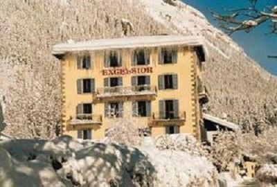 Location au ski Best Western Plus Excelsior Chamonix Hotel & Spa - Chamonix - Extérieur hiver