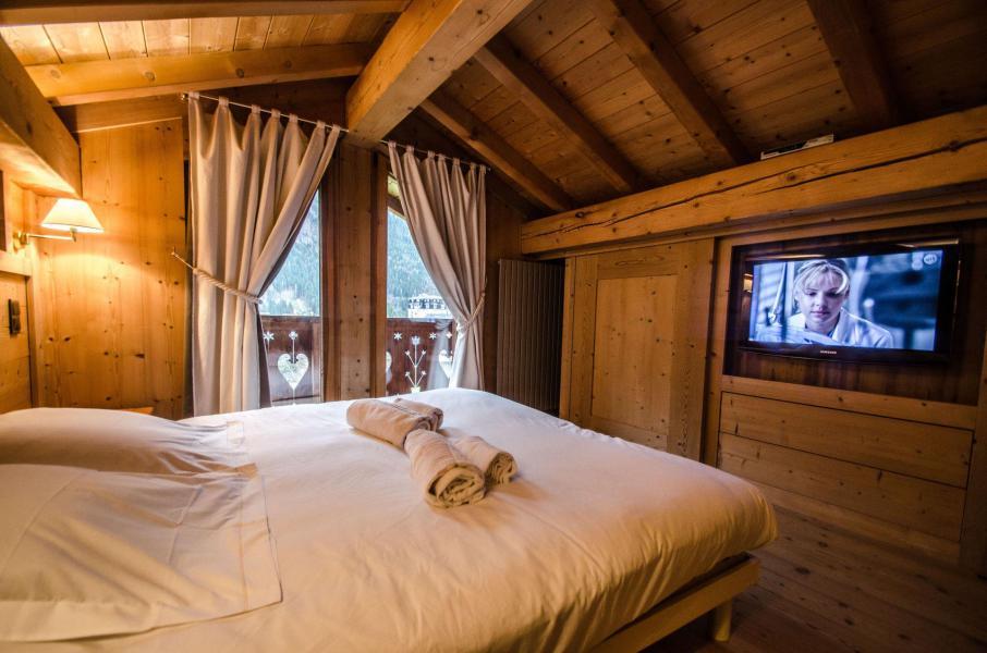 Location au ski Chalet duplex 3 pièces 4 personnes - Chalet June - Chamonix - Chambre