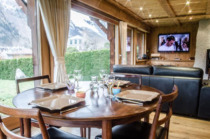 Location au ski Chalet duplex 3 pièces 4 personnes - Chalet June - Chamonix - Salle à manger