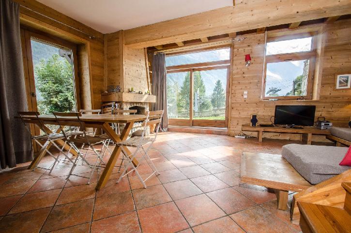 Location au ski Chalet 4 pièces 6 personnes - Chalet Le Panorama - Chamonix - Coin séjour