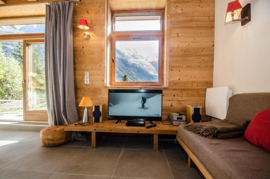 Location au ski Chalet 4 pièces 6 personnes - Chalet le Panorama - Chamonix - Séjour
