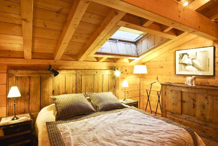 Location au ski Chalet 7 pièces 10 personnes - Chalet Macha - Chamonix - Chambre mansardée