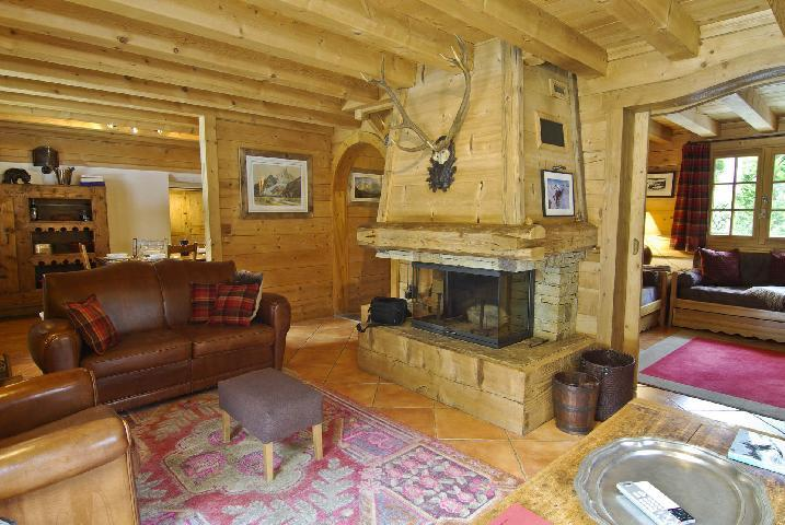 Location au ski Chalet 7 pièces 10 personnes - Chalet Macha - Chamonix - Cheminée
