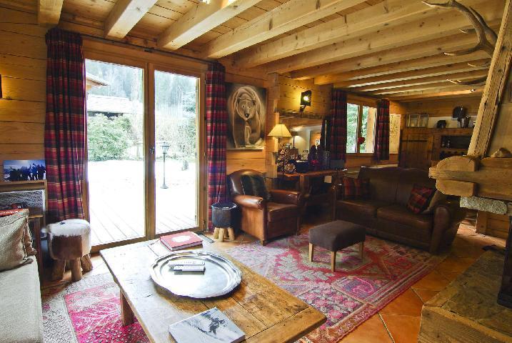 Location au ski Chalet 7 pièces 10 personnes - Chalet Macha - Chamonix - Coin séjour